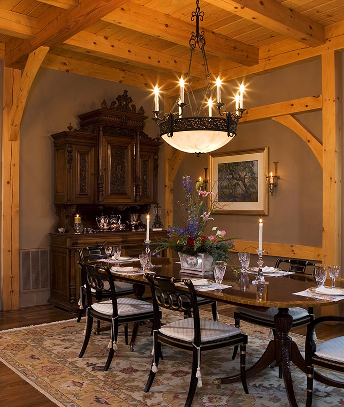 Timber Framed Dining Rooms By Mill Creek