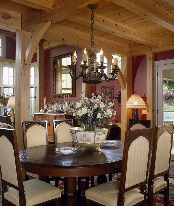Timber framed dining rooms by mill creek for Framed pictures for dining room