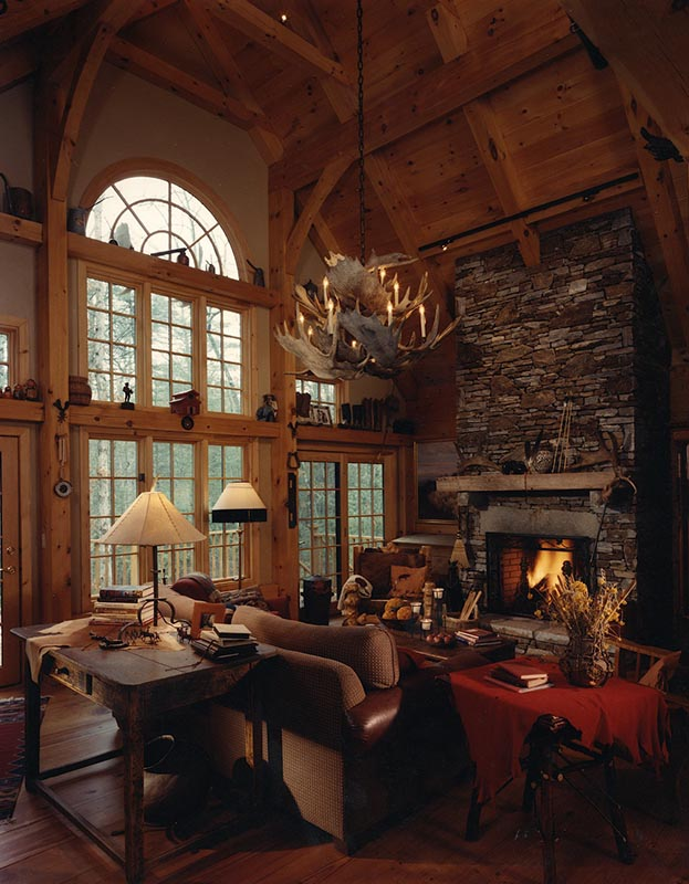 Mill creek designed timber frame great rooms for Homes with great rooms