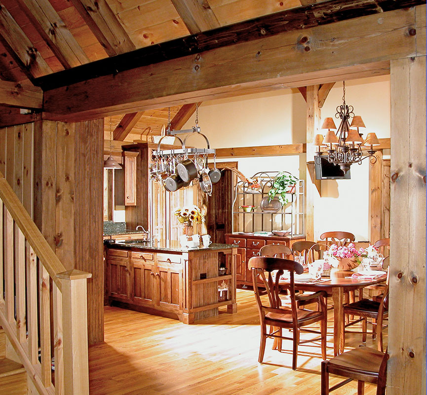 Timber Frame Designed Kitchens Mill Creek Post Beam
