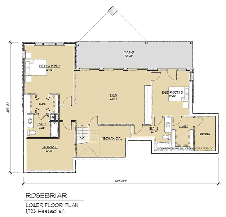 Rosebriar Timber Frame Floor Plan By Mill Creek