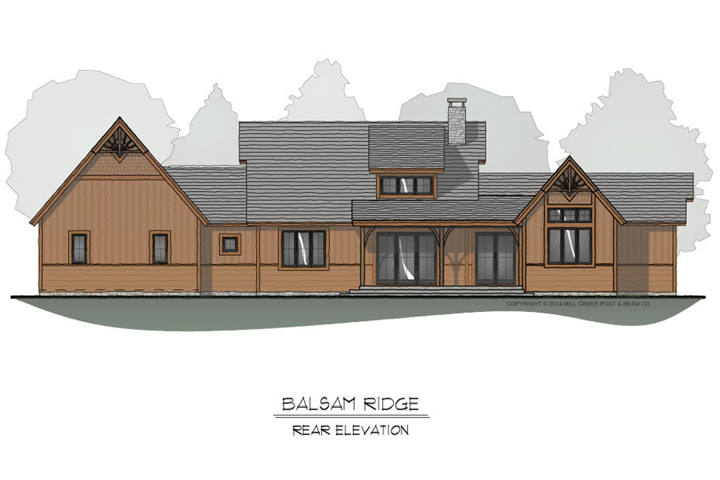 Balsam Ridge Rear Elevation