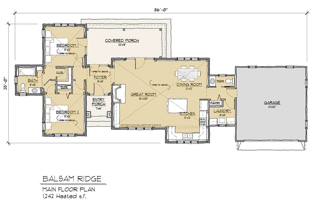 Balsam Ridge Main Floor Plan