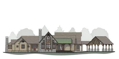 Blue Mountain Timber Frame Floor Plan
