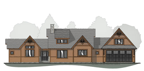 Balsam Ridge Timber Frame Floor Plan