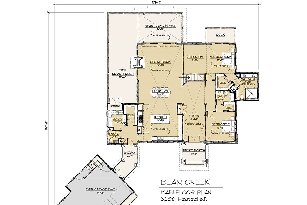 Bear Creek Main Floor Plan