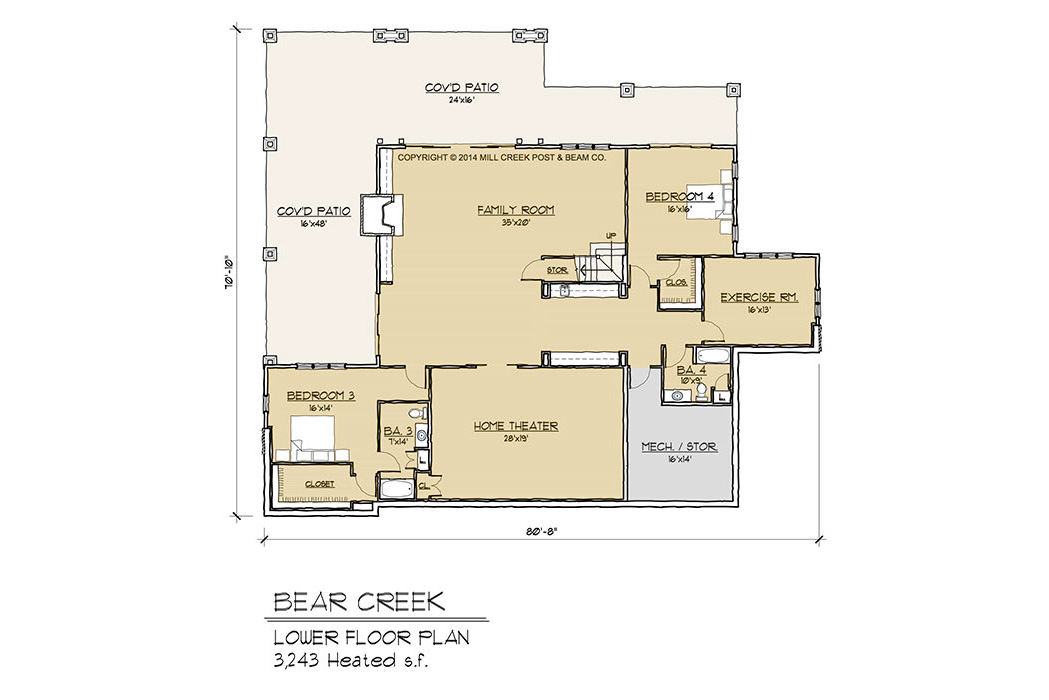 Bear Creek Lower Floor Plan