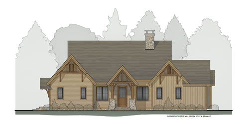 Rosebriar Timber Frame Home Plan