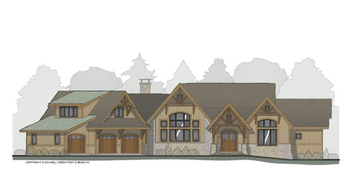 Bear Creek Timber Frame Floor Plan