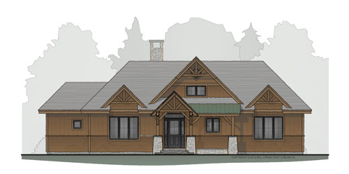 Boulder Ridge Timber Frame Floor Plan