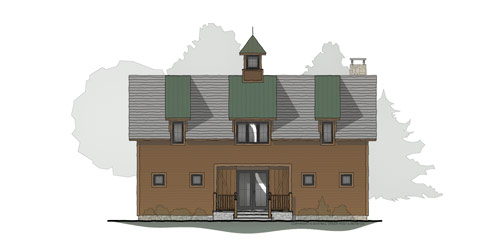 Bridle Creek Timber Frame Floor Plan