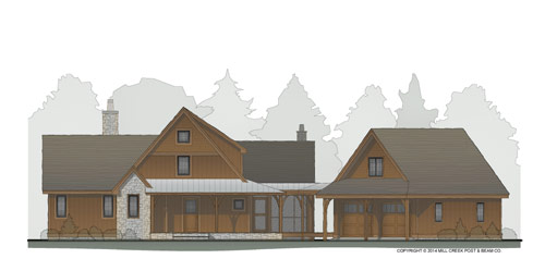 Cottonwood Creek Timber Frame Floor Plan