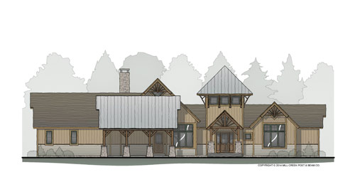 Mirror Lake Timber Frame Home
