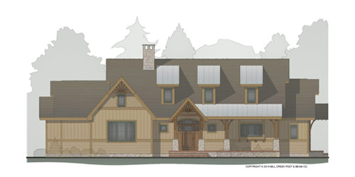 Moss Grove Timber Home Floor Plan