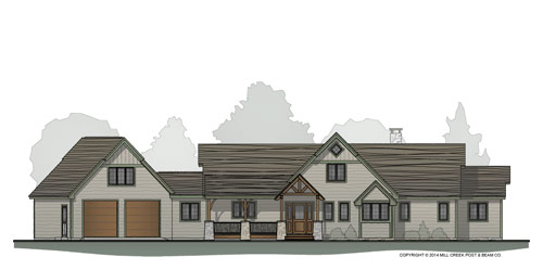 Pine Crest Timber Home Floor Plan