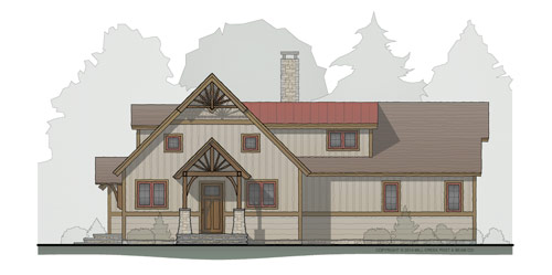 Spring Creek Timber Frame Floorplan