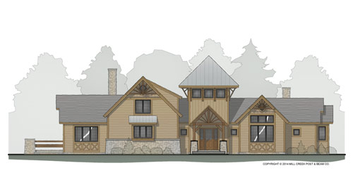 Tower Falls Timber Frame Floor Plan