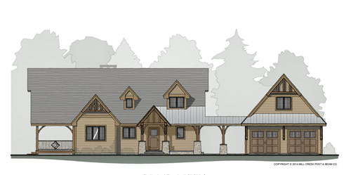 Trout Creek Timber Frame Floor Plan