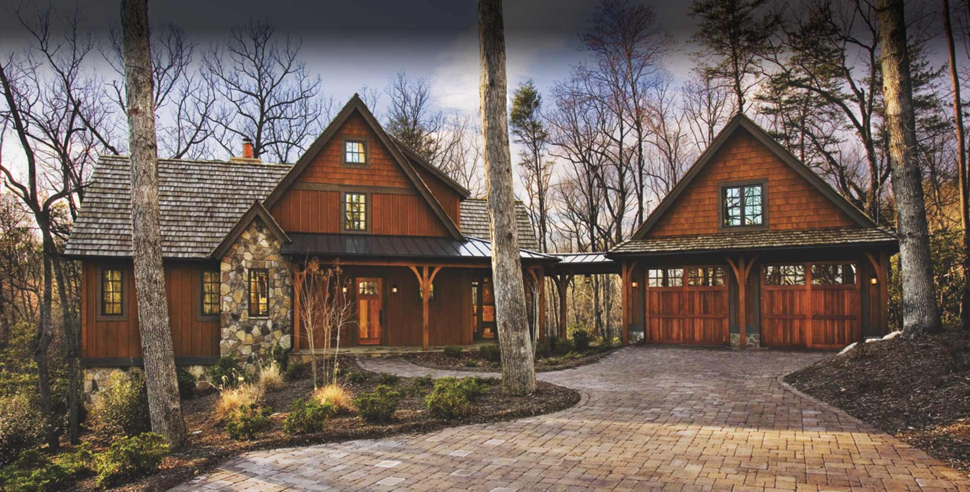Timber frame homes by mill creek post beam company - Three wooden house plans ...