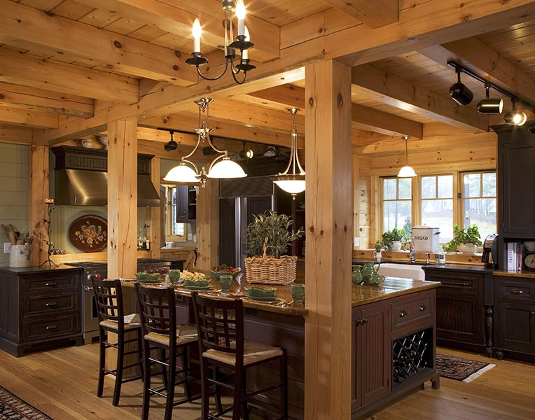 Timber Frame Designed Kitchens | Mill Creek Post & Beam