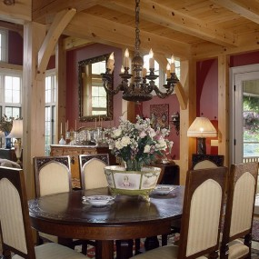 Timber Frame Dining Room