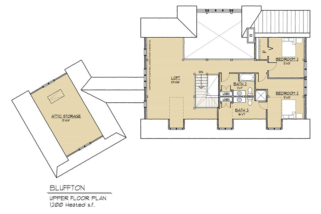 Bluffton Timber Frame Floor Plan
