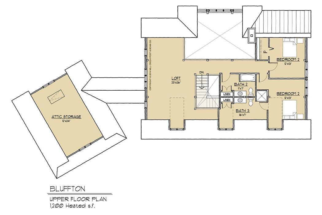 Bluffton Timber Frame Floor Plan