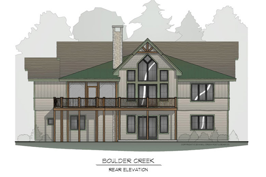Boulder Creek Timber Frame Floor Plan