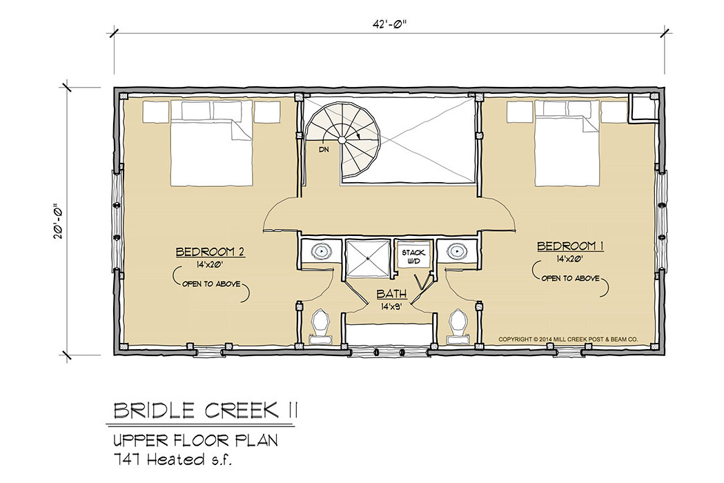 Bridle Creek II Timber Frame Floor Plan
