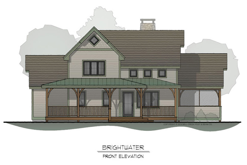 Brightwater Timber Frame Floor Plan