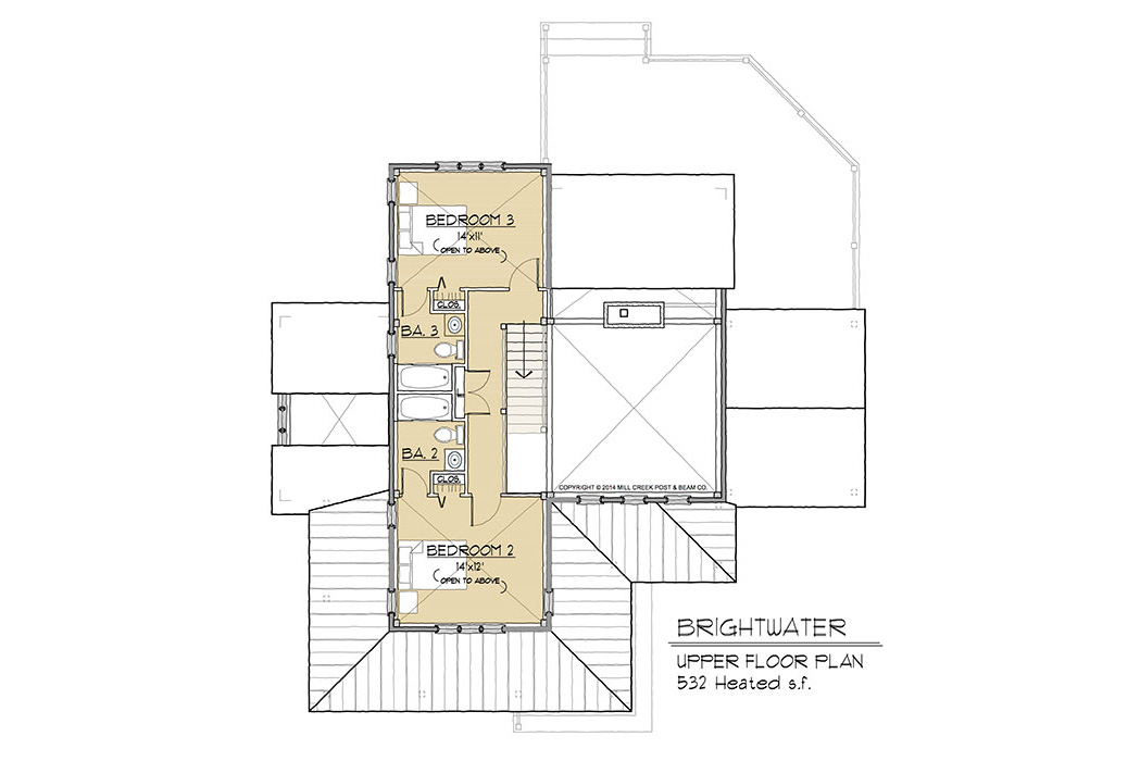Brightwater Timber Frame Floor Plan