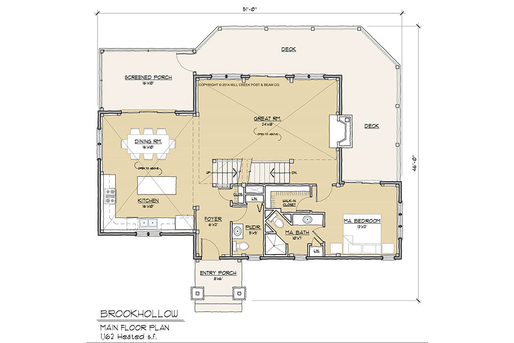 Brookhollow Timber Frame Floor Plan