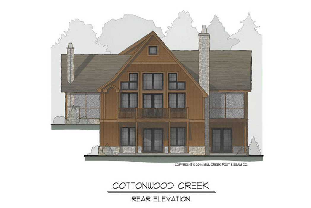 Cottonwood Creek Timber Frame Floor Plan