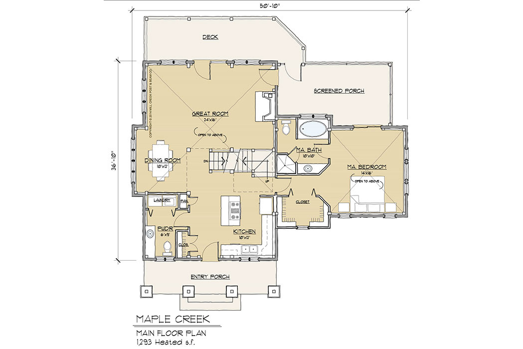 Maple Creek Timber Frame Floor Plan