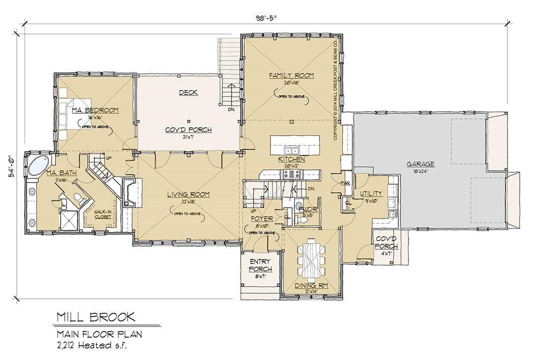 Mill Brook Timber Frame Floor Plan