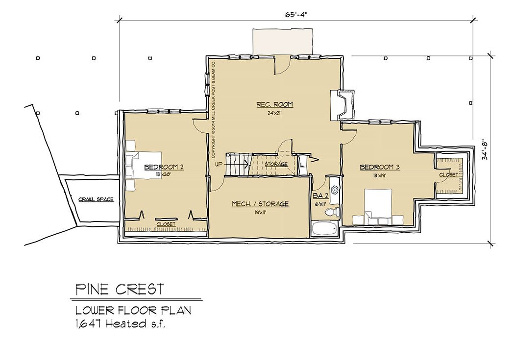 Pine Crest Timber Frame Floor Plan