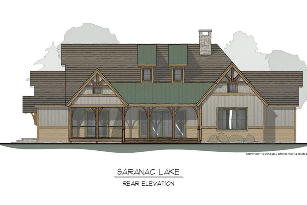 Saranac Lake Timber Frame Floor Plan