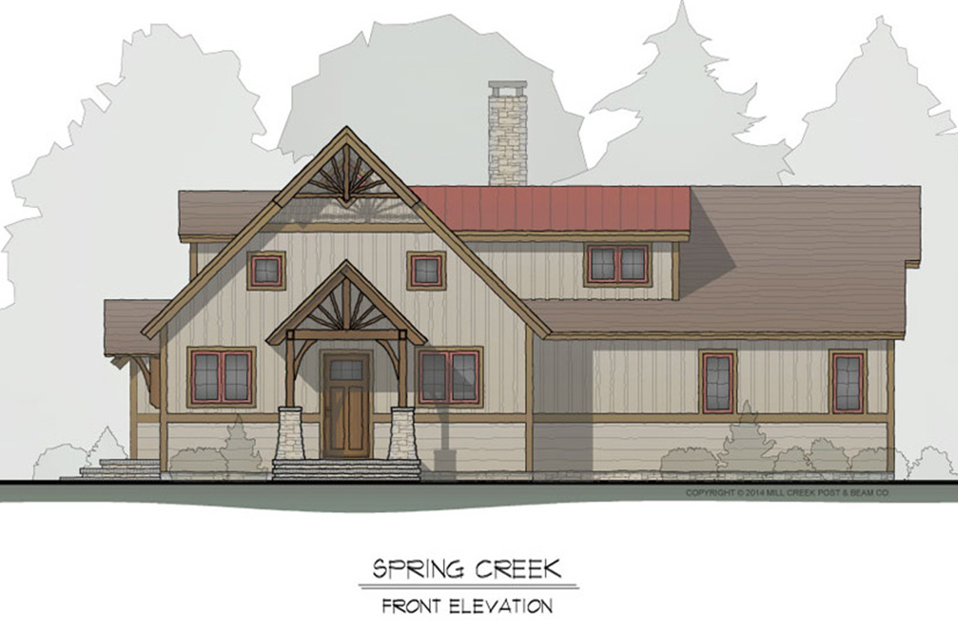 Spring Creek Timber Frame Floor Plan