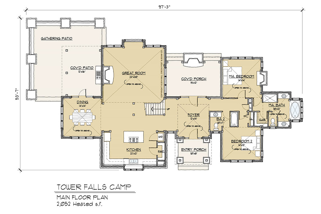 Tower Falls Camp Timber Frame Floor Plan