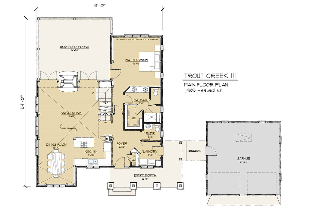 Trout Creek III Timber Frame Floor Plan