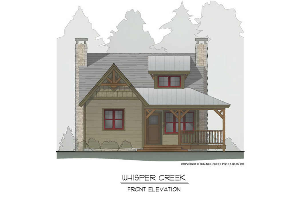 Whisper Creek Timber Frame Floor Plan