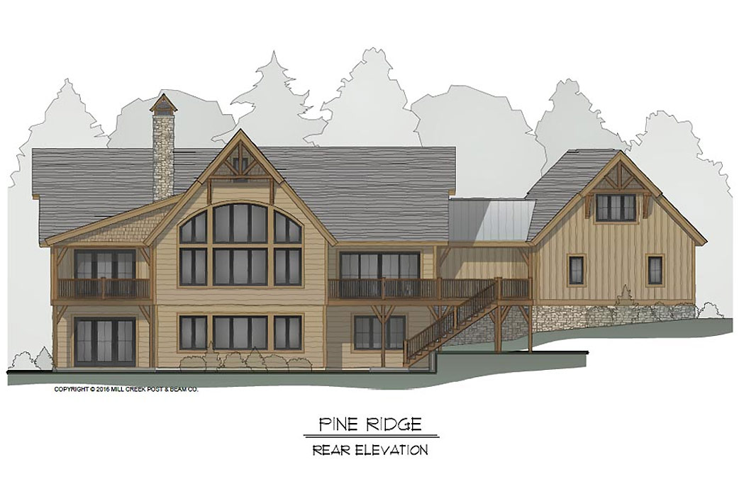 Pine Ridge Timber Frame Floor Plan